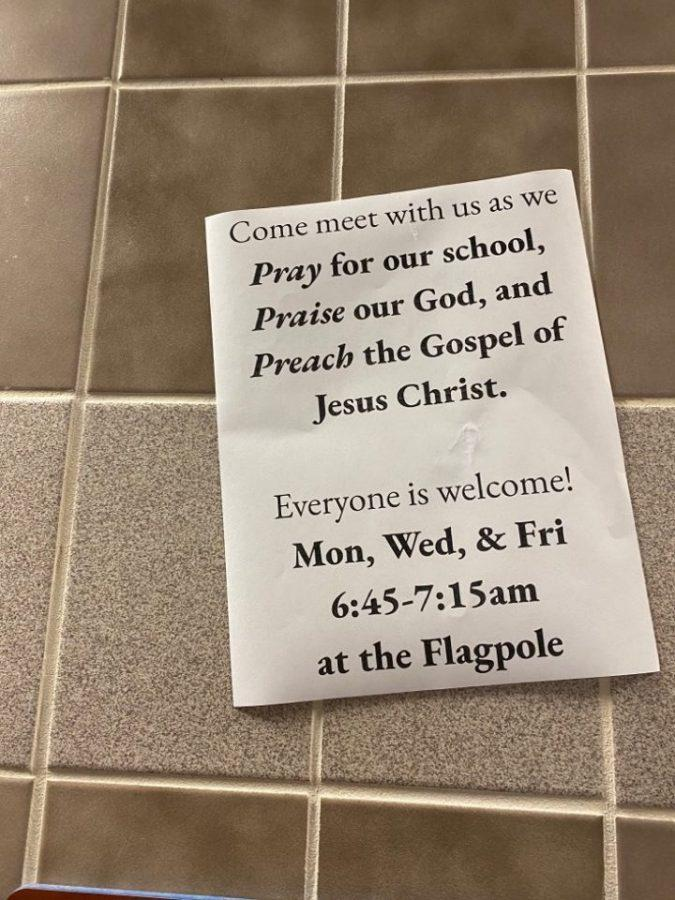 The students put up flyers 7 weeks ago informing teachers and students alike of the opportunity to meet in unity with fellow students praising God. Their numbers have since more than quadrupled, as they went from an initial 3 students to now 13.