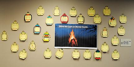 Mrs. Hansen's health science class created lanterns to illustrate the struggles of mental health.
