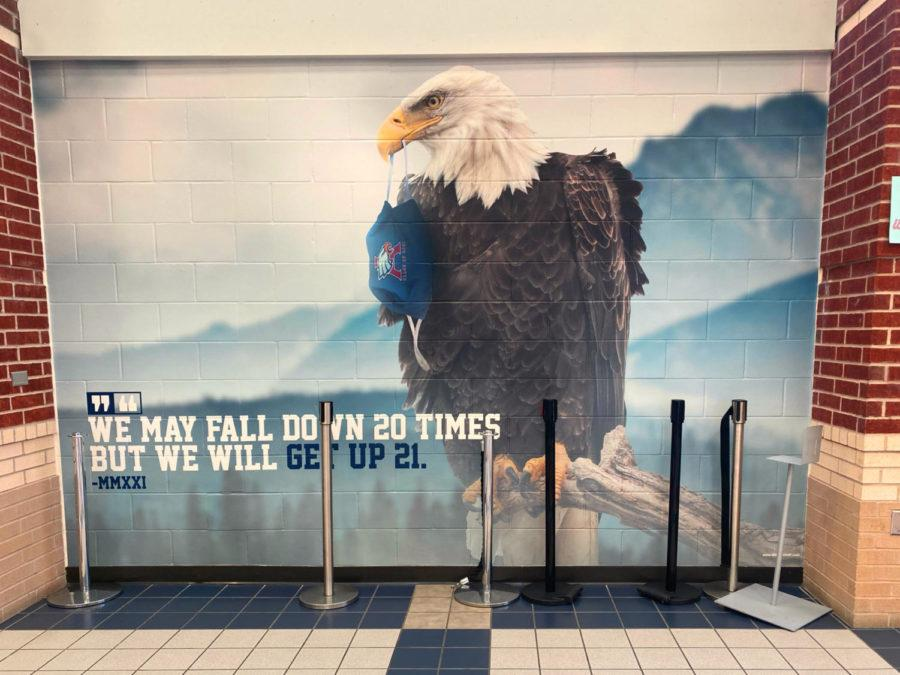 Class of 2021 inspires perseverance with mural in cafeteria