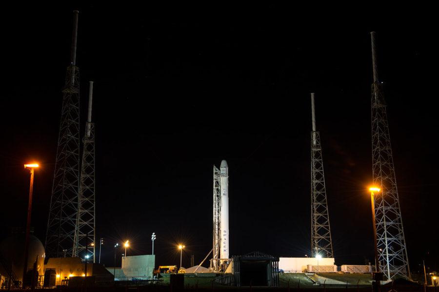 SpaceX+Falcon+9+Erection+by+NASA+HQ+PHOTO