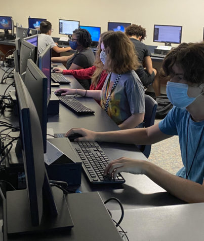 Students have the choice to wear masks during the 2021-2022 school year.
